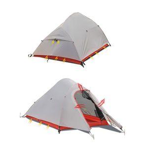 Kabinenzelt for 1 Person, wasserdichtes Zelt for Camping mit Tragetasche, Doppelschicht-Aluminiumstange mit großem Raum for Familien-Camping im Freien, Jagd, Wandern, Abenteuerreisen