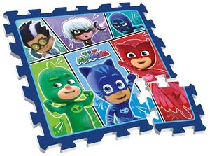 Disney bodenpuzzle PJ Masks junior 88 cm blau 9-teilig