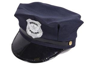 Polizeimütze Kinder Schwarz