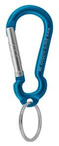 Mini Ring 6 cm (Materialkarabiner) - Aliens, Farbe:hellblau