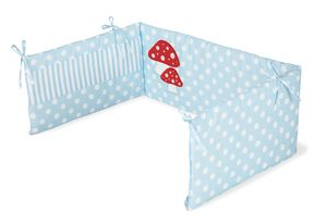 Nestchen für Kinderbetten 'Glückspilz', hellblau