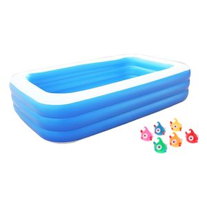 PVC Kinderpool Aufblasbar Rechteckig Planschbecken F/ür Kinder Baby Exuberanter Family Pool 130X90X55CM