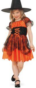 Hexe Spinnenhexe Kinder Karneval Fasching Halloween Kostüm 116