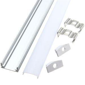 4pcs 50cm U Alu Profile Profilleiste Schiene Abdeckung für LED Strip Leiste
