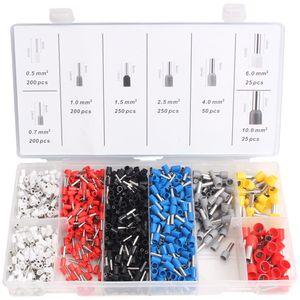 1200tlg Aderendhülsen Sortiment Kabelschuhe Set Isoliert 0,5-10mm² KFZ Werkzeug