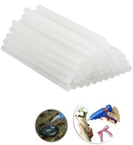 20 Stück Heißklebestifte Heißklebesticks 7x200mm, - DIY Ersatzsticks Klebesticks für Heißklebepistole (Semi-transparent 7x200 mm)