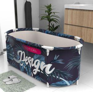 Tragbare Badewanne Klappbadewanne PVC Wasserwanne Spa Erwachsene Kinder Faltbar
