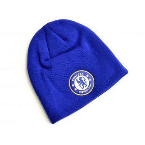 Chelsea FC Strick-Beanie mit Wappen BS1709 (Einheitsgröße) (Königsblau)