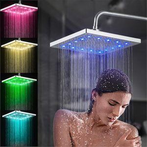 23cm Quadrat Duschkopf Regendusche LED Duschbrause Duschköpfe