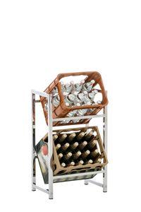 CLP Getränkekistenständer Lennert, Farbe:chrom, Größe:S