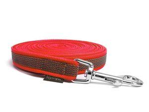 Mystique® Gummierte Schleppleine 12mm mit Handschlaufe Standard Karabiner rot 5m