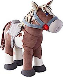 Haba pferd Joey Junior 35 x 30 cm Textil braun/weiß