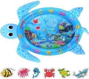 Tummy  Wassermatte, Baby Wassermatte Säugling Aufblasbare Spielmatte für 3 6 9 12 Monate Neugeborene Jungen Mädchen - 122 cm x 95 cm
