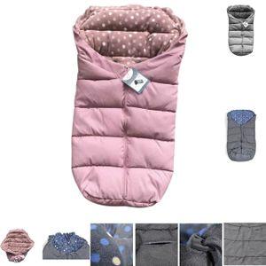 Cangaroo Fußsack Cuddle, für Kinderwagen Thermofleece wasserdicht Reißverschluss, Farben:rosa