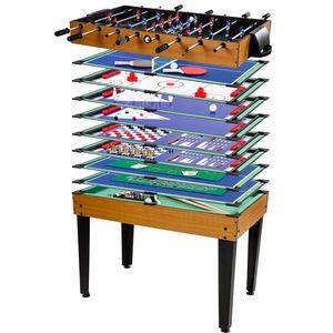 GamesPlanet® Multigame Spieletisch 15 in 1, helles Holzdekor