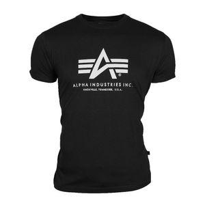 ALPHA Industries Basic T-Shirt schwarz, Größe:XXXL