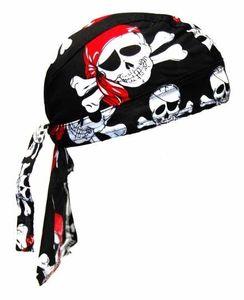 Bandana Cap Pirat Skull, Kopftuch mit Totenköpfen Pirat, Bandana Headscarf with Skulls, Pañuelo pañuelo Con Calaveras, Foulard Bandana Avec des crânes