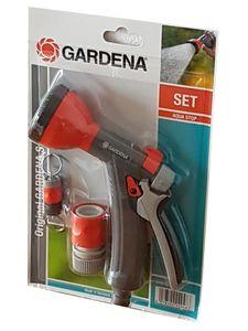 Gardena Brausen Set mit Anschlußstück und Schlüsselanhänger Aqua Stop 8184-46