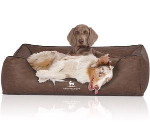 Knuffelwuff Hundebett Scottsdale aus Kunstleder Übergröße XXXL 155 x 105cm Braun