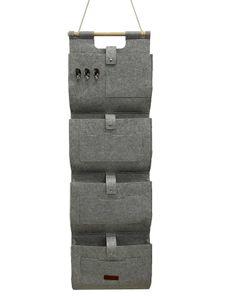 DESEN Türaufhängetasche Hängeorganizer Tasche Aufbewahrung Storage Halter Wandtasche Grau 32*118 cm