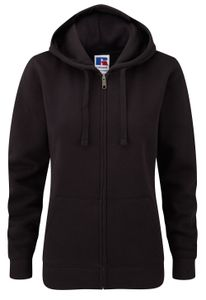 Z266F Damen Authentic Hooded Sweatjacke Sweatshirtjacke Jacke mit Kapuze, Größe:L, Farbe:Black