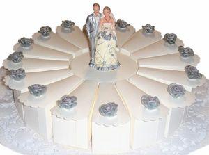 Gastgeschenke Torte zur Hochzeit Brautpaar GG0061 Silberhochzeit