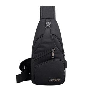 1 Stück Sling Brusttasche 33x16cm Schwarz Crossbody Sling-Brusttasche Solide