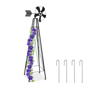relaxdays Rankhilfe mit Windrad für den Garten