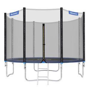 SONGMICS Ø 305cm Trampolin bis 150kg mit Leiter+Sicherheitsnetz+Sprungmatte Gartentrampolin STR10FT