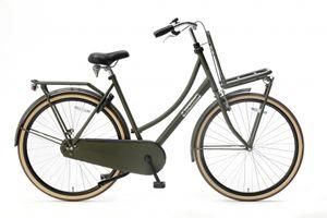 Popal Transportfahrräder Damen Daily Dutch Basic 28 Zoll 57 cm Damen Rücktrittbremse Armeegrün