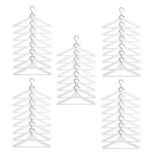 40x Bumerang Ikea Holz Kleiderbügel weiß Kleidung Hemden NEU