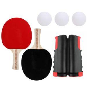 Tischtennis Set Tischtennis Netz Tischtennis Tisch Praktische Holz Zuf?llige Farben Spielen Sie Pingpong Sport Schl?ger Bewegung Leichtathletik Spiel