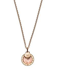 Emporio Armani EG3375221 Damen Collier Rose Orange 44 cm