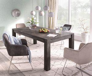 Esszimmertisch Indra Akazie Platin 200/300x100 cm Massivholz ausziehbar Esstisch