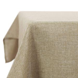 Kartokner Tischdecke Wasserdicht Tischdecke Lotuseffekt Tischtuch Leinenoptik 130x220 cm Leinen