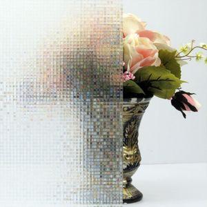 Pndwfr 3D Fensterfolie Nachbildungfolie Sichtschutzfolie Ohne Kleber Selbstklebend Glas Fenster Folie Anti-UV (45cm X 200cm, )