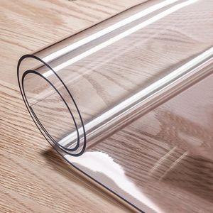 PVC Transparent Tischdecke, Weichen Glas Rechteck Wasserdichte tisch,Öl tuch Tisch Abdeckung Nachbildung Küche Tisch tuch