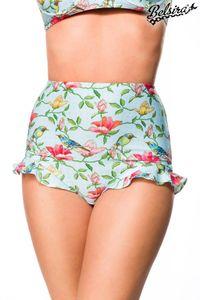 Bikinihöschen mit Rüschen, Farbe: Blau/Pink, Größe: XL