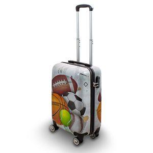Motiv Koffer Sport Fußball Tennis Handball Rugby 4 Rollen Trolley 58 cm Bowatex