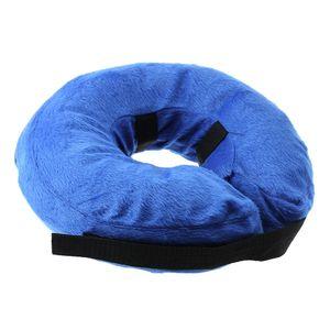 Aufblasbare Halskrause Halskragen Schutzkragen Hundekragen L Blau