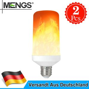 2X 6W E27 LED Flamme Glühbirne Flamme Lampe Flackerlicht Flammeneffekt Feuer DE
