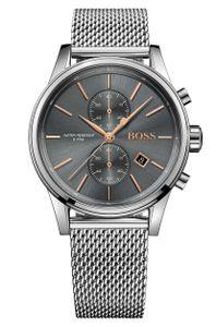 Hugo Boss Herren Chronograph Jet Armbanduhr 1513440 - Edelstahl/Silber/Grau
