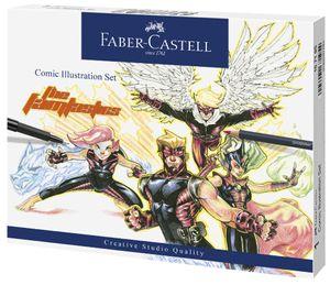 FABER-CASTELL Tuschestift PITT artist pen 15er Etui Comic