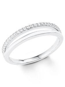 s.Oliver 2022726 Damen Ring Sterling-Silber 925 Silber Weiß 54 (17.2)