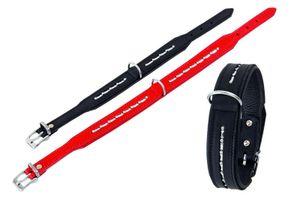 Tondo Halsbänder, Farbe:rot; Länge x Breite:40 cm x 24 mm