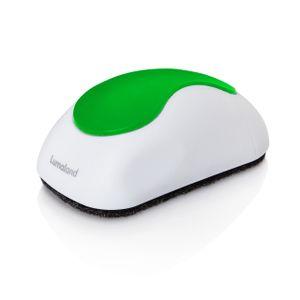 Lumaland magnetischer Whiteboard Schwamm mit fünf Auswechselpads aus Filz weiss / grün