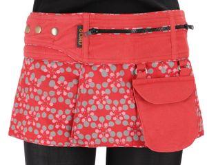 Wickelrock, Cacheur, Sidebag - Rot, Damen, Baumwolle, Größe: L/XL