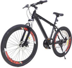 Mountainbike 26 Zoll Fahrrad 21 Gang Jugendfahrrad Cycling MTB Jugend Unisex Outdoor Sportfahrrad Trainieren Tourenrad für Mädchen Jungen