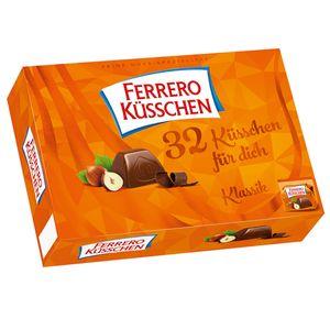 Ferrero Küsschen Klassik mit 32 einzel verpackten Pralinen 284g