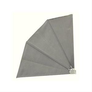 Balkonfächer Sichtschutz / Sonnenschutz / Windschutz grau